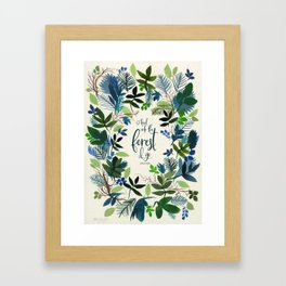 Into the Forest Watercolor Framed Art Print