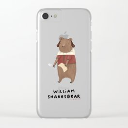 William Shakesbear Clear iPhone Case