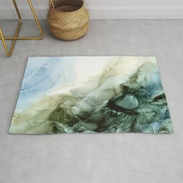 Land and Sky Abstract Landscape Painting Rug