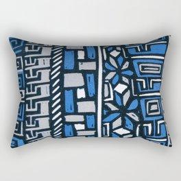Primitive lino print Rectangular Pillow