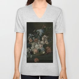 Cornelia Van Der Mijn - Still Life With Flowers Unisex V-Neck