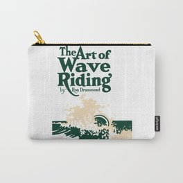 The Art of Wave Riding 1931, First Surfing Book Artwork, for Wall Art, Prints, Posters, Tshirts, Men, Women, Kids Carry-All Pouch