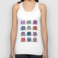 sweater Tank Tops featuring Sweater Poster by Valeriya Volkova