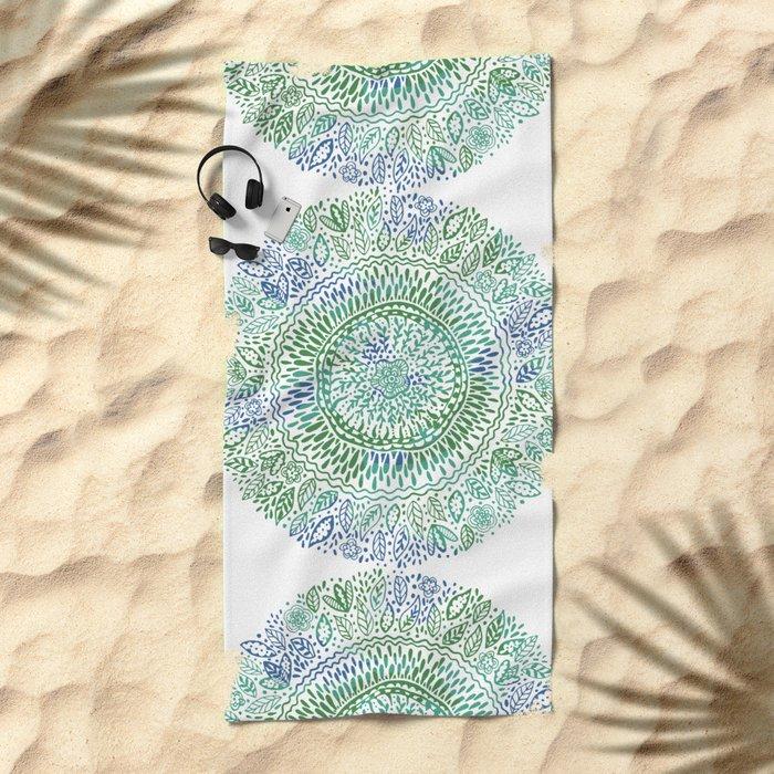 Intricate Nature  Beach Towel