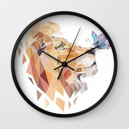 polygonal lion Wall Clock