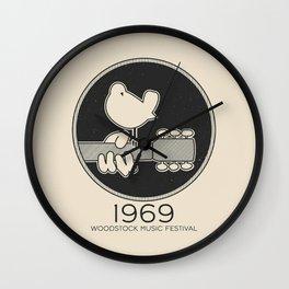 Woodstock 1969 Original - Art Print Wall Clock