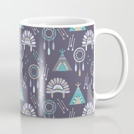 Indian Pattern Purple Coffee Mug