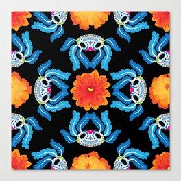 Geometric Dia De Los Ajolotes Canvas Print