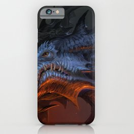 Magnificent Impressive Horned Fairytale Monster Reptile Face UHD  iPhone Case