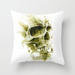 Sandy Skull Throw Pillow