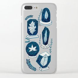 Galaxy Plants Clear iPhone Case