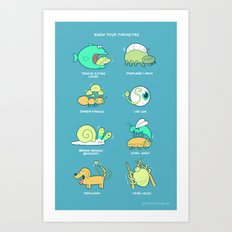 Know your parasites Art Print