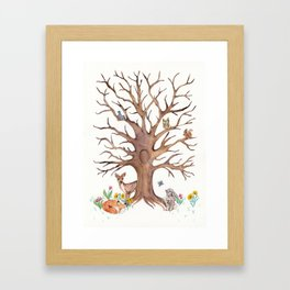 Fingerprint Tree Framed Art Print