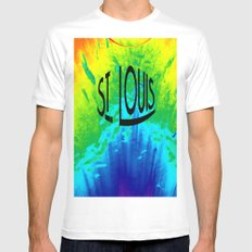 St. Louis Colors White SMALL Mens Fitted Tee