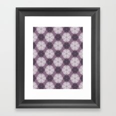 PAISLEYSCOPE posh (purple) Framed Art Print