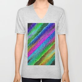 Colorful digital art splashing G478 Unisex V-Neck