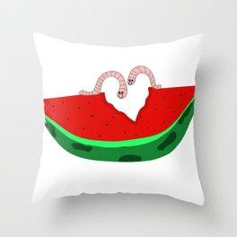 Watermark love Throw Pillow