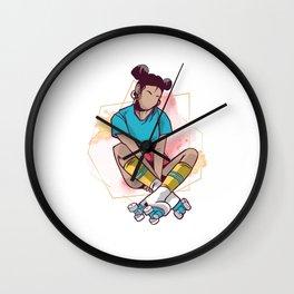 Roller Girl Skater Roller Skates Inline Skating Gift Wall Clock