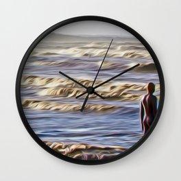 Stormy Day (Digital Art) Wall Clock