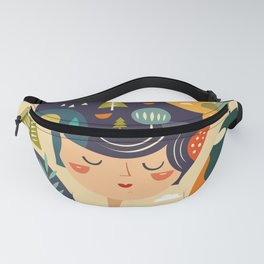 Girl with Trees Fanny Pack