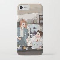 lydia martin iPhone & iPod Cases featuring Teen Wolf X-Files AU (Stiles Stilinski & Lydia Martin) by vulcains