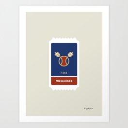 Milwaukee Baseball Ticket (12 of 30) Art Print
