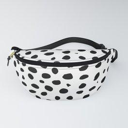 Black And White Cheetah Print Fanny Pack