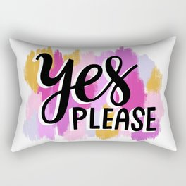 Yes Please Rectangular Pillow