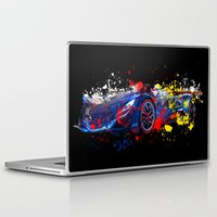 sport Laptop & iPad Skins featuring sport car by mark ashkenazi
