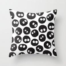 Soot Sprites Throw Pillow