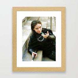 Suave Loki Cosplay Framed Art Print