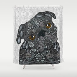 Black Pug 2016 Shower Curtain