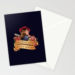Agent Carter Vintage Tattoo Dark Stationery Cards