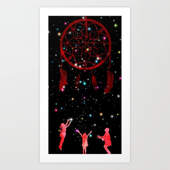 Catching dreams Art Print