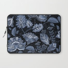 Blooms in the blue night Laptop Sleeve