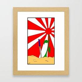 Hold Fast For Sunrise Is Here Framed Art Print