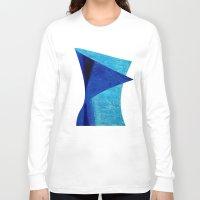 aqua Long Sleeve T-shirts featuring Aqua by BruceStanfieldArtistPainter
