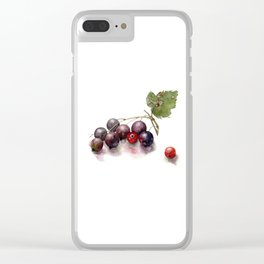 watercolor currant Clear iPhone Case