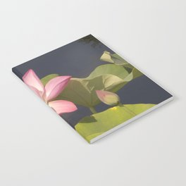 Pink Lotus by Teresa Thompson Notebook