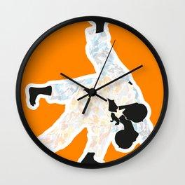 Delicate Judoka 03 Wall Clock