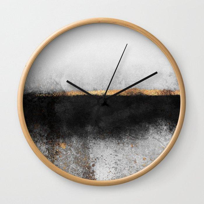 Soot And Gold Wall Clock