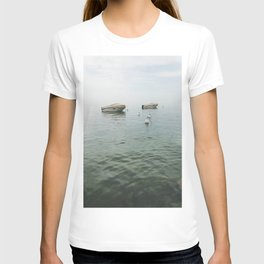 Boats in the lake T-shirt