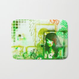 green illusion Bath Mat
