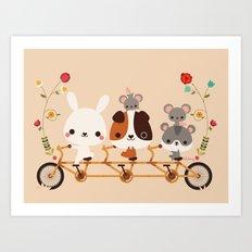 Tandem Ride Art Print