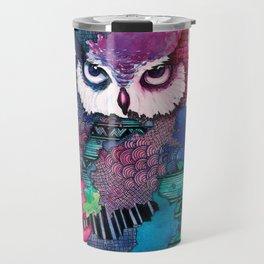 Watercolor Owl Travel Mug