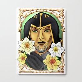 Narcissus poeticus. Daffodil. Ondolemar. Elf Metal Print
