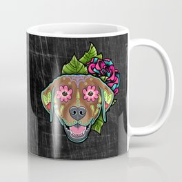 Labrador Retriever - Chocolate Lab - Day of the Dead Sugar Skull Dog Coffee Mug