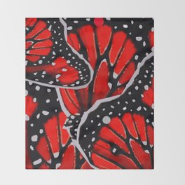 red monarch Throw Blanket