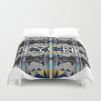psycho Duvet Covers featuring psycho  by kikkerART