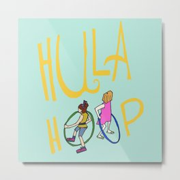 Hula Hoop Metal Print